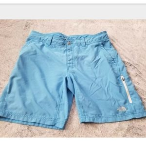 The North Face Blue & Gray Athletic Shorts Size 36